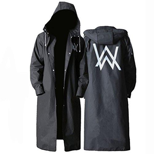 Raincoat ALXC- Regenmantel für Erwachsene im Freien, Regenmantel Creative Fashion Black Outdoor Herren für Lange Zeit Verdickung Eva Regenmantel Poncho (Farbe : A, größe : L)