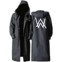 Raincoat ALXC- Gabardina al Aire Libre para Adultos, Impermeable Creative Fashion Black Outdoor Long Engrosamiento EVA Impermeable Poncho (Color : A, Tamaño : XXL)