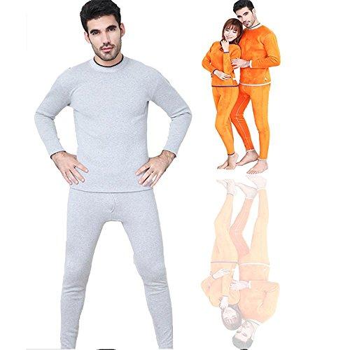 CHUNHUA Hommes Femmes résistent hiver froid col rond en cachemire sous-vêtements à double coton ensembles de sous-vêtements thermiques , e , m c