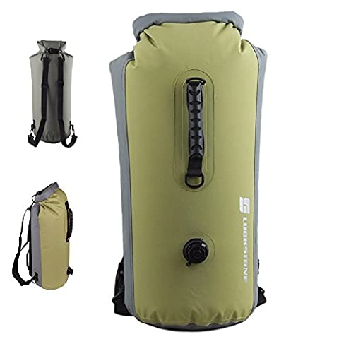 GossipBoy 25L Lightweight Inflatable Foldable Waterproof Roll Top Dry Bag Backpack for Beach, Hiking, Kayaking, Fishing, Camping and Other Outdoor Activities