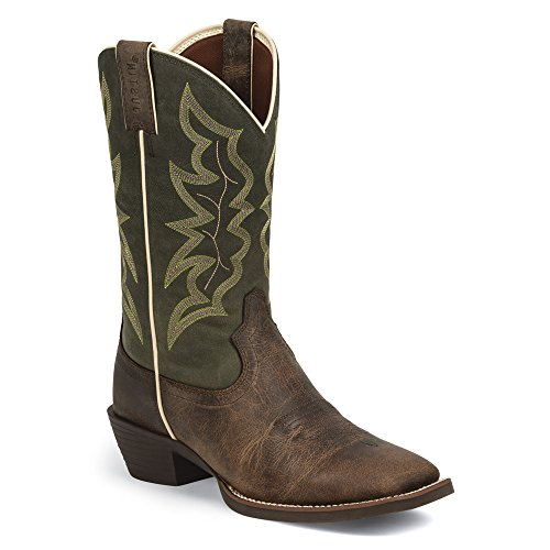 Justin Boots 2569 Large Cuir Santiags brown