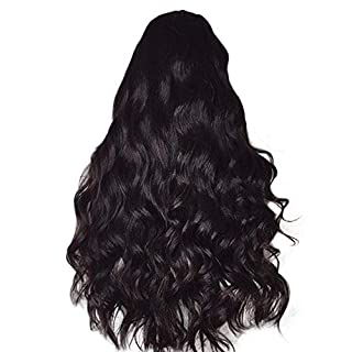 AG&T 2019 The Latest Wigs For Brazilian Remy People Wave No Lace Front Human Hair Wigs On Sale (One Size, Black)