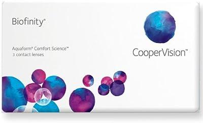 Biofinity Toric Lentes de contacto tóricas mensuales, R 8.7, D 14.5, -1.75 dioptría, cilindro -0.75, eje 170 - 3 lentillas