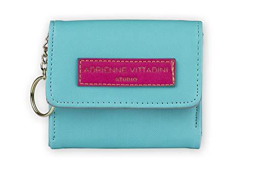 Tri-Coastal Design - Portafoglio o Portamonete Adrienne Vittadini in Eco Pelle Colorata con Dettagli a Contrasto per Donna (green pink)