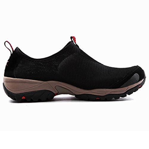 XIANG GUAN Herren Damen Sommer atmungsaktive mesh Oberfläche Schuhe Freizeitschuhe Sneakers leicht Slipper 3409 Schwarz X48ip