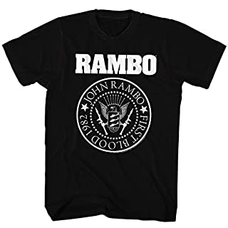 Rambo Movie Action Adventure Rambones Adult T-Shirt Tee