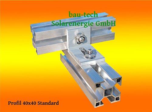 1 St. Würth Kreuzverbinder mit Verschraubung für Aluprofile von bau-tech Solarenergie GmbH