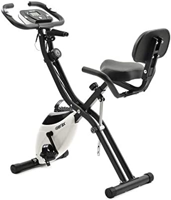 YL-Life - Bicicleta estática plegable magnética, para entrenamiento cardiovascular y entrenamiento en interiores, con ordenador de entrenamiento y bandas elásticas