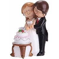 FEOYA Sweet Romantic sposo e sposa taglio della torta Pose Topper Per Torta Nuziale Deco