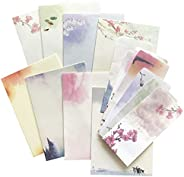 64 Vintage Retro Design Writing Stationery Paper Pad Letter Set with 24 envelopes, 8 Different Style #2