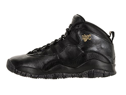 Nike Black / Black-drk Grey-mtllc Gld, espadrilles de basket-ball garçon Noir - Negro (Black / Black-Drk Grey-Mtllc Gld)