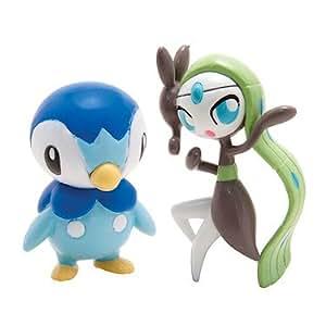 Pokemon – Pack 2 Mini Figurines – Tiplouf vs Meloetta