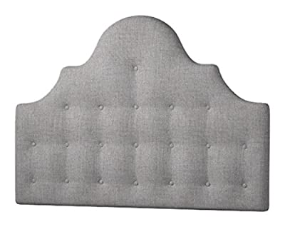 Happy Beds Everest Buttoned Headboard, Fabric, Slate Grey Cotton, 4 ft 6-Inch, Double - inexpensive UK light store.