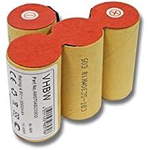 vhbw Batería Ni-MH 3000mAh (4.8V) para Vileda AS-193E9A como