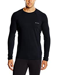 Columbia Midweight Stretch Long Sleeve Top - Camiseta térmica para Hombre, Color Negro, Talla