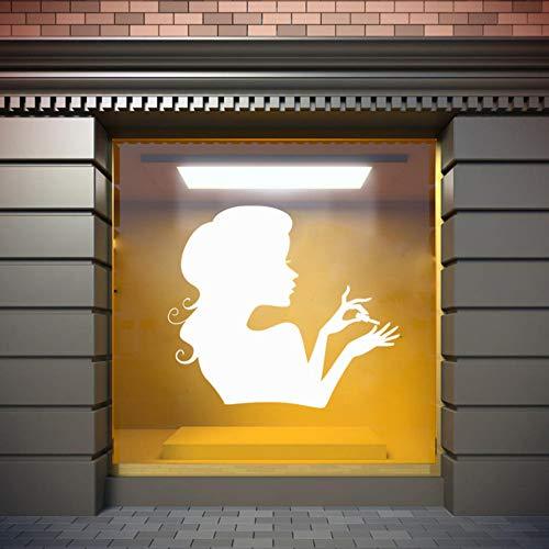 Lglays Ongles Salon Signe Autocollant Mural Autocollant Pvc Fenêtre Autocollant Ongles Polonais Manucure Pédicure Beauté Salon Décoration 64 * 65 Cm