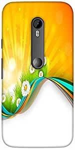 Snoogg Abstract Summer Background Designer Protective Back Case Cover For Mot...