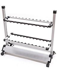 Croch Tragbare Angelrute 24 Rods beweglicher Aluminium Angelrute Stand-Rack Rutenständer