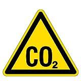 Warnzeichen - Warnung vor CO2 - Erstickungsgefahr - Folie Selbstklebend - Schenkellänge 25 cm