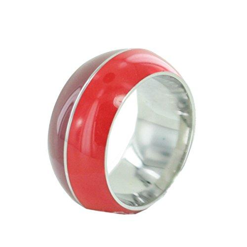 Esprit anello da donna, acciaio inossidabile, rosso/marrone, misura 50 (15.9)