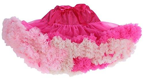 Happy Cherry-Bambino Bambino Ragazza Gonna Tutu-Gonna balletto danza-Abito da Principessa-Rosa Rosso Rouge Rosé Età 2-4 Anni