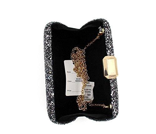 WYB Europa und Diamant-Abendtasche / Kupplung / high-grade voller Diamanten Abendbeutel / Handtaschen Bankett Diamant Black