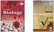 Selina ICSE Concise Biology for Class 10 (2020-2021) Session + Selina ICSE Concise Mathematics for Class 10 (2