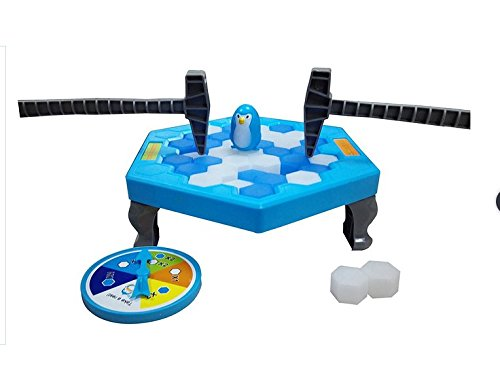 Penguin Trap Pengui Trap Ice Breaking - Juego Educativo de Escritorio, diseño de pingüino, Color Azul