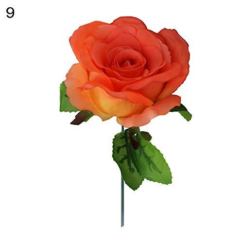 Danigrefinb Deko-Rosen, 10 Stück, schöne künstliche Stoffe, für Zuhause, Party, Hochzeit, Dekoration 9#