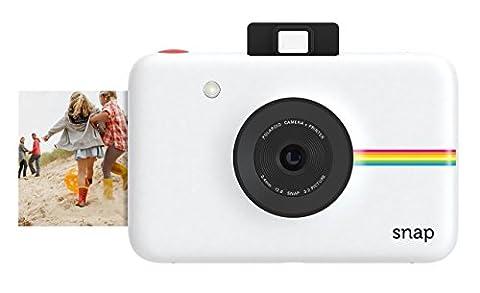 Polaroid Digitale Instant Snap Kamera (Weiß) mit ZINK Zero Ink Technologie
