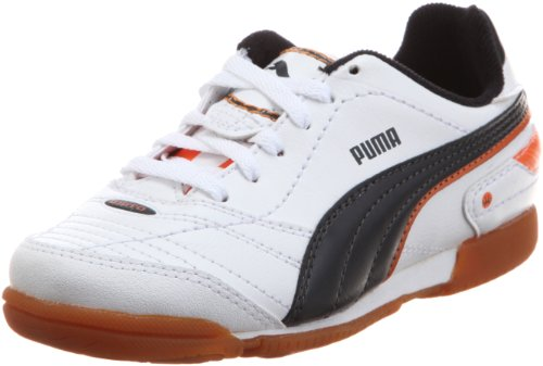 Puma Esito Finale It Jr, chaussures de sport - football mixte enfant Weiss (white-dark navy-team orange 05)