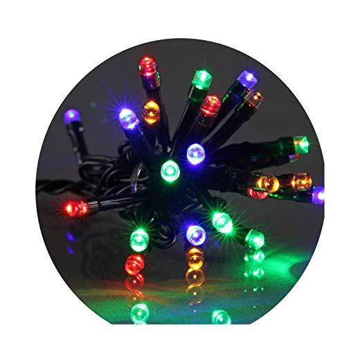 E=M6 5EEX334MC Guirlande 200 LED Fil Vert, Plastique, Multicolore