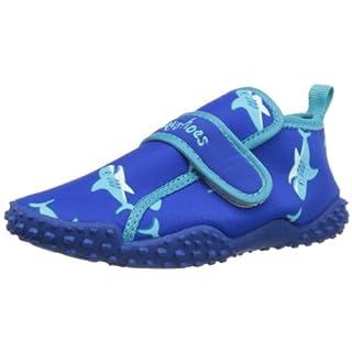 Playshoes Aquaschuhe Hai mit höchstem UV-Schutz nach Standard 801 174773, Unisex - Kinder Dusch- & Badeschuhe, Blau (original 900), EU 22/23
