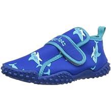Playshoes Aquaschuhe, Badeschuhe Hai mit höchstem UV-Schutz nach Standard 801 174773 - Chanclas de tela para niños