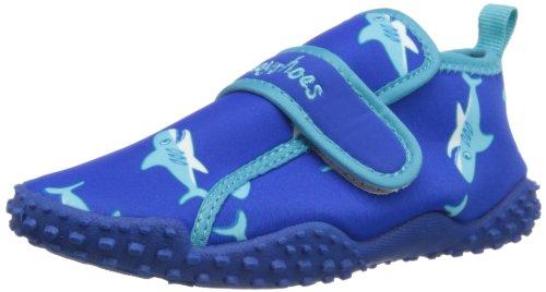 Playshoes Aquaschuhe, Badeschuhe Hai mit höchstem UV-Schutz nach Standard 801 174773, Jungen Dusch- & Badeschuhe, Blau (original 900), EU 24/25