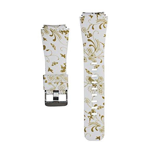 für Apple Lattice Lederband Uhr 38mm (22mm, A) (22 Mm Manschette Uhr Band)