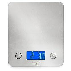 Smart Weigh Digitale Küchenwaage, Multifunktionale, 5kg, Aus Edelstahl