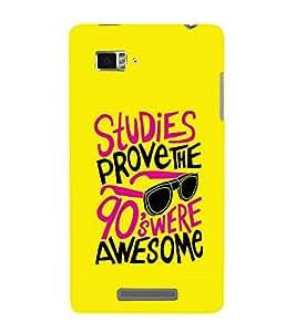 PrintVisa Designer Back Case Cover for Lenovo Vibe Z K910 (Yellow color design :: modern design :: crazy design :: stylish lettering :: Awesome design)