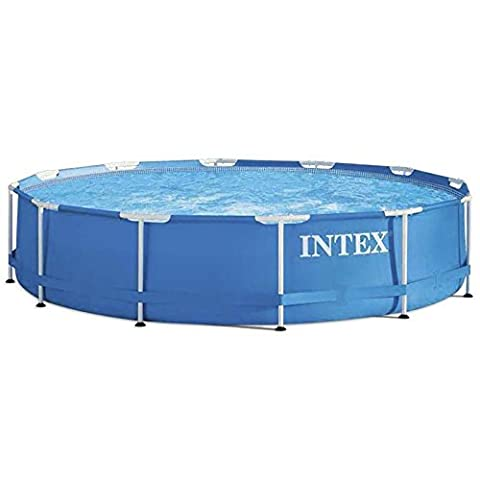 Intex METAL FRAME Support piscine gonflable avec pompe 366 x 76 cm