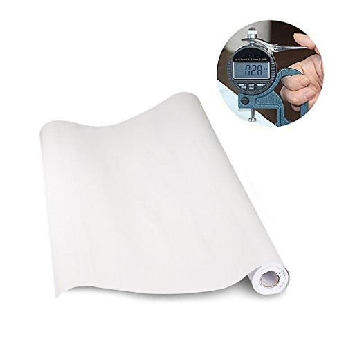 *KINLO Elegant Selbstklebend Möbelfolie PVC 0.61x5M Weiß Küchenfolie Wasserfest Dekofolie Schrankfolie klebefolie Möbelfolie Folie Tapeten für Küche Schrank Möbel*