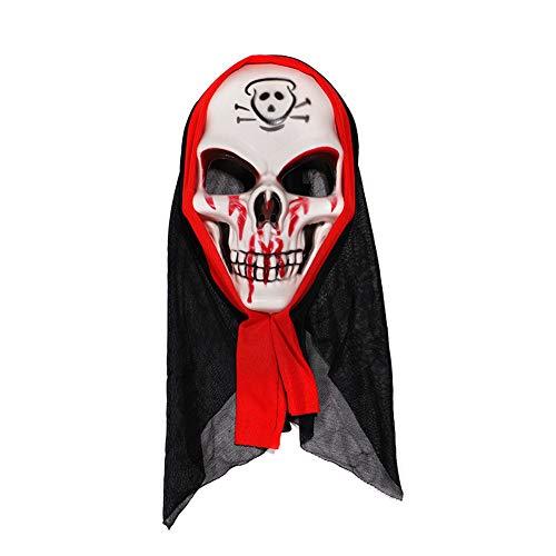 Asien Halloween-Maske Scary Kostüm-Schablonen-Schrei Schädel-Geist-Fälschungs-Gesicht Multi-Form-Masken Für Erwachsene Maske Und - Geist Halloween Scary Kostüm
