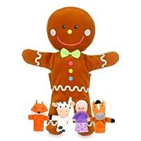 Fiesta Crafts Gingerbread Man Hand and Finger Puppet Set