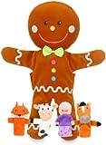 Fiesta Crafts Gingerbread Hand and Finger Puppet Set