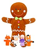 Fiesta Crafts Gingerbread Hand and Finger Puppet Set