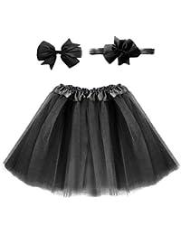 Vestido de tutú de color sólido para niños/falda de tutú de tul esponjoso para baile, diadema para niñas bebés/multicolor