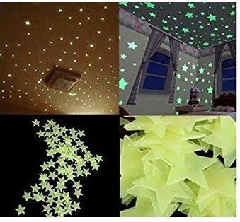 100Pzas-Luminoso-pegatinas-de-pared-Estrellas-Luminosas-Pegatina-Pared-Fluorescente-Brilla-Oscuridad-PVC