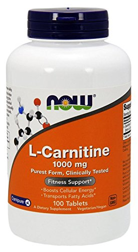 L-carnitine 1000 mg - 100 comprimes - Now foods