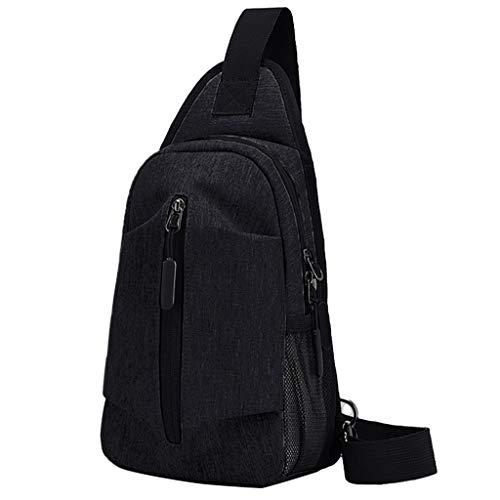 Ledertasche, Schultertasche, Geschenk, Handgefertigte Tasche,Männer Oxford Tuch Brusttasche Sport Outdoor Freizeit Multifunktionstasche ()