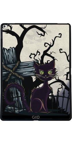 Hülle für Apple Ipad Pro (12.9 Zoll) - Vintage Halloween-Friedhof Katze by Gatterwe
