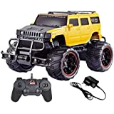 Halo Nation 1:20 Hummer Remote Control Monster Truck Rock Crawling Scale Car (Yellow)